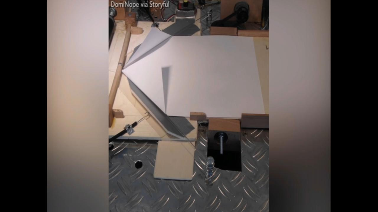Student creates paper plane machine for his final project