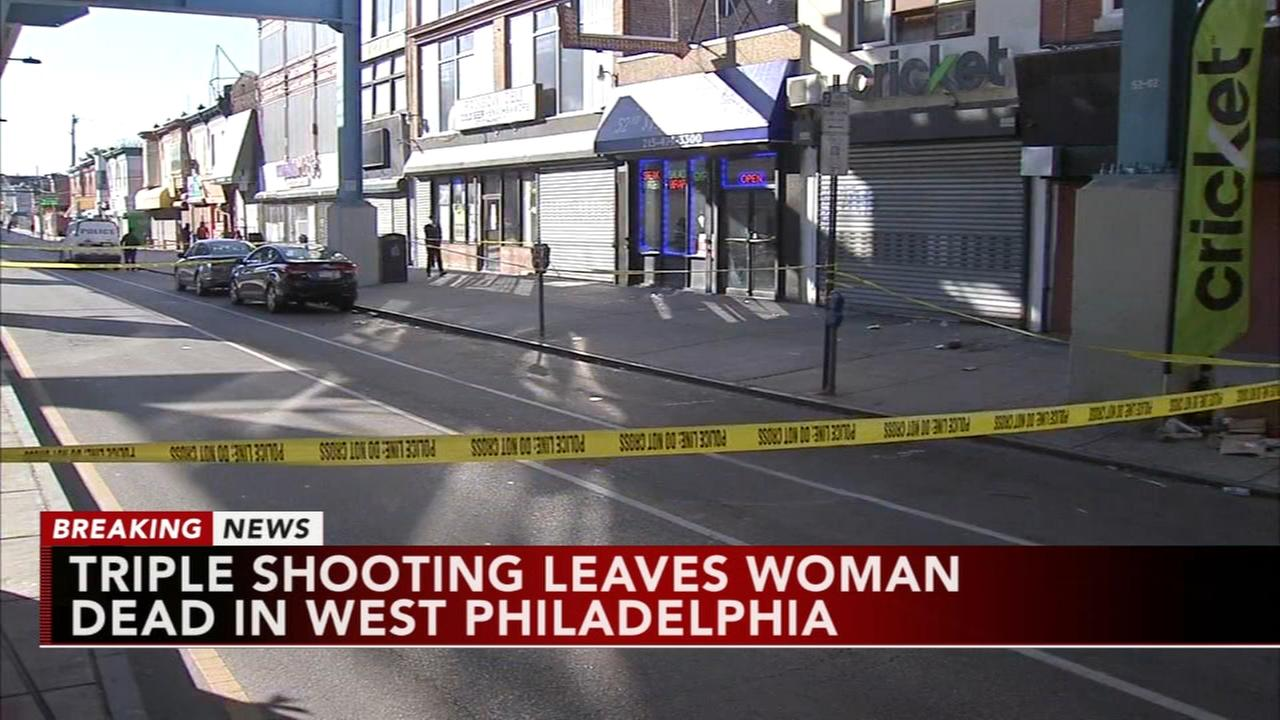 Police investigate triple shooting in West Philadelphia