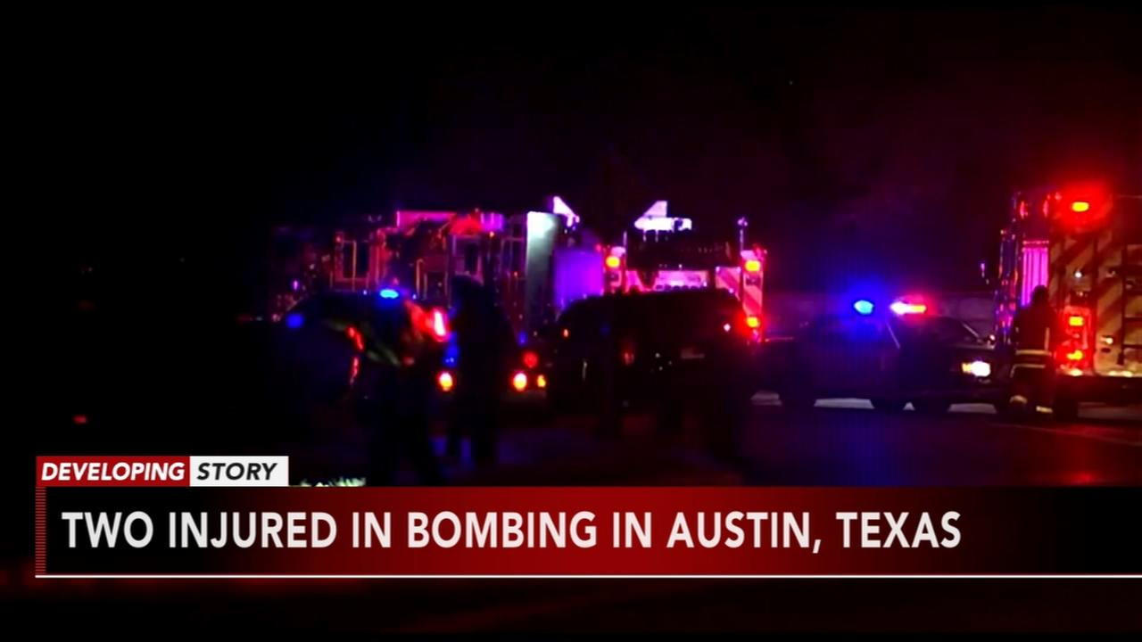 2 injured in bombing in Austin, Texas