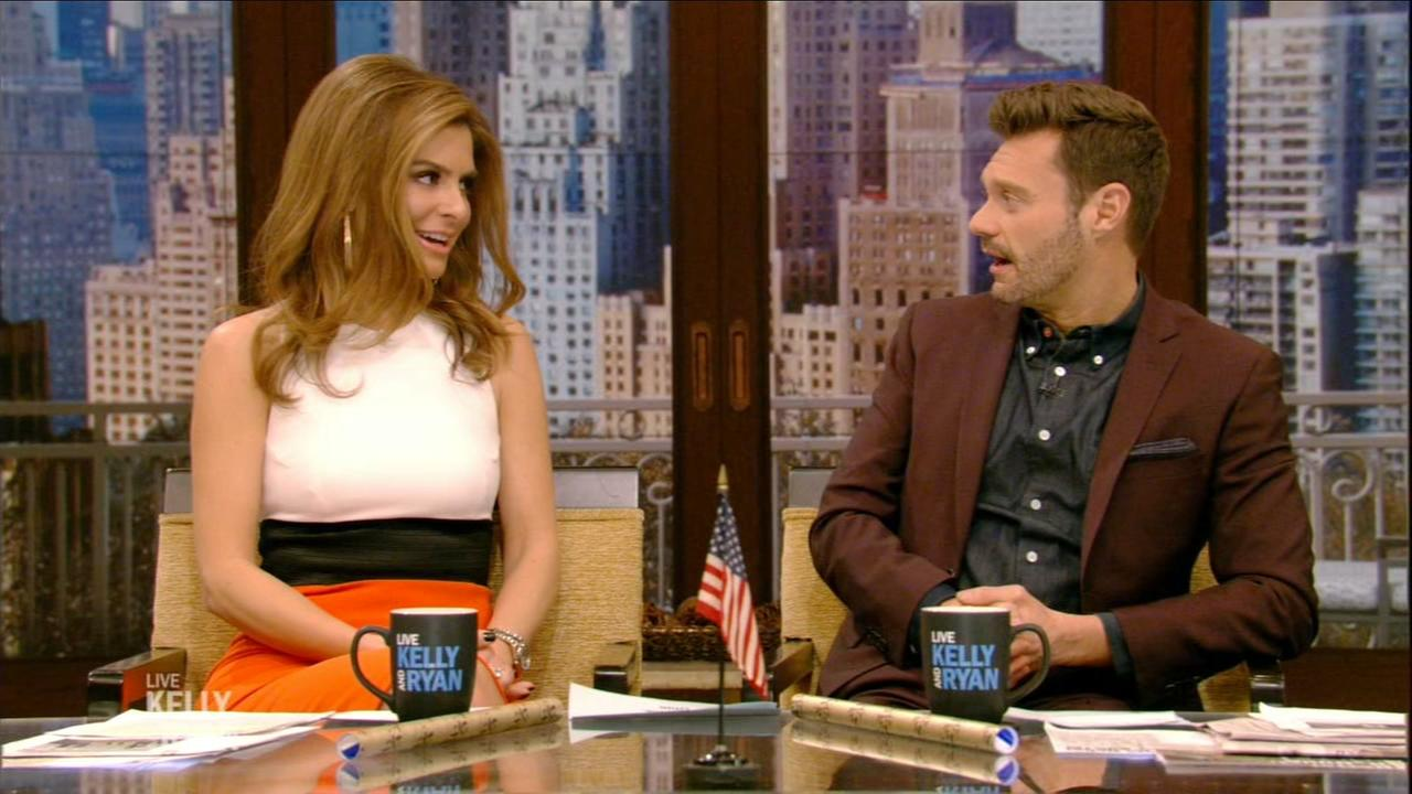 Maria Menounos and Ryan Seacrest discuss cheesesteaks