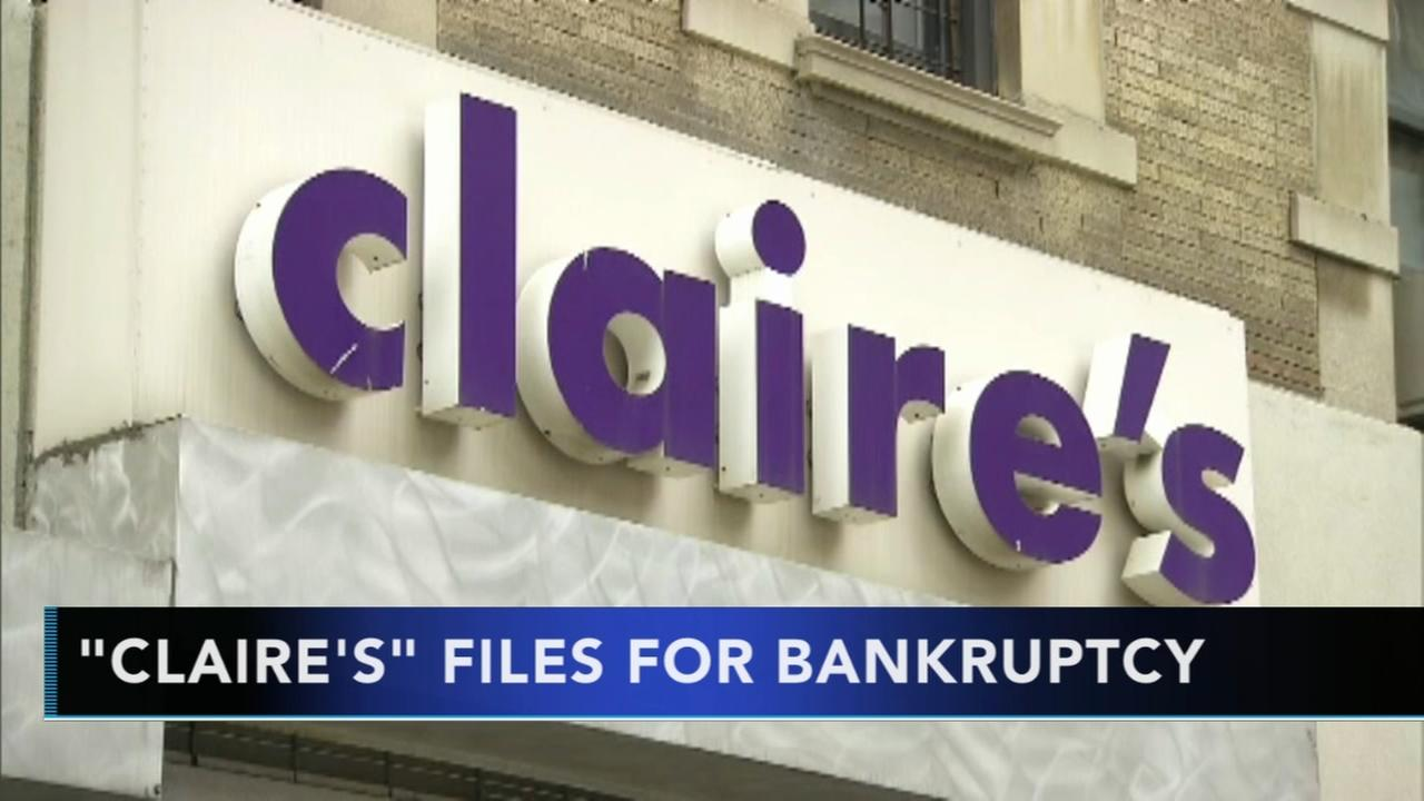 Claires, the ear-piercing mall chain, files for bankruptcy