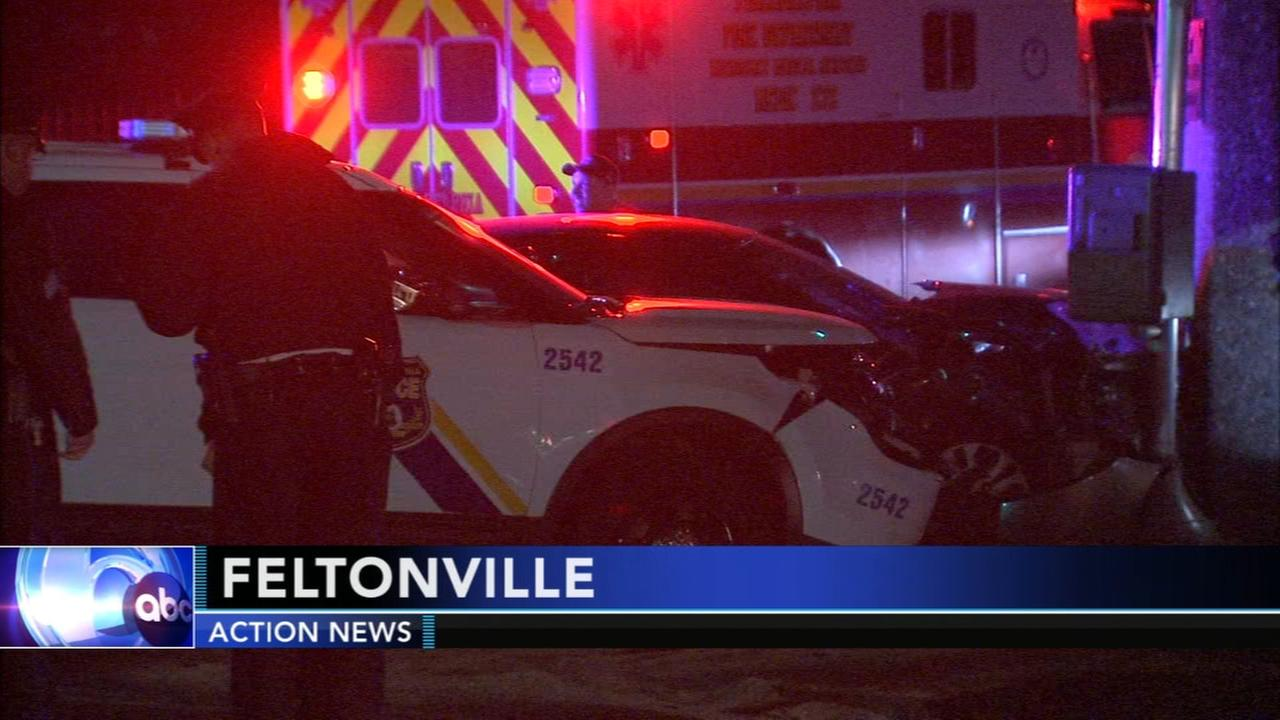 Officer involved in Feltonville car crash