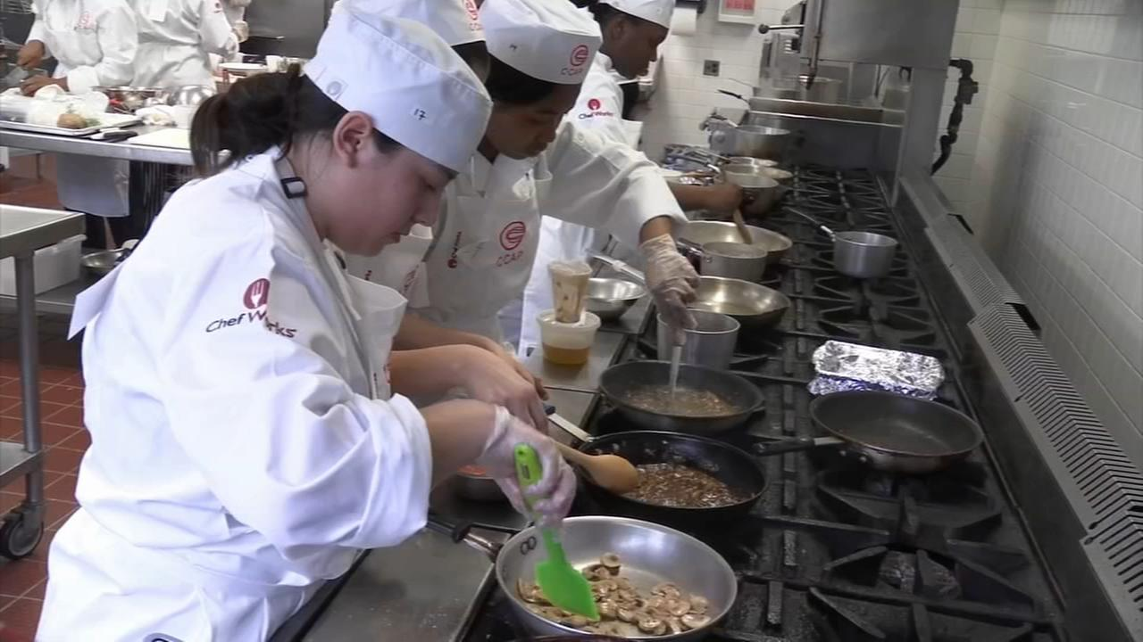 Chefs in training compete