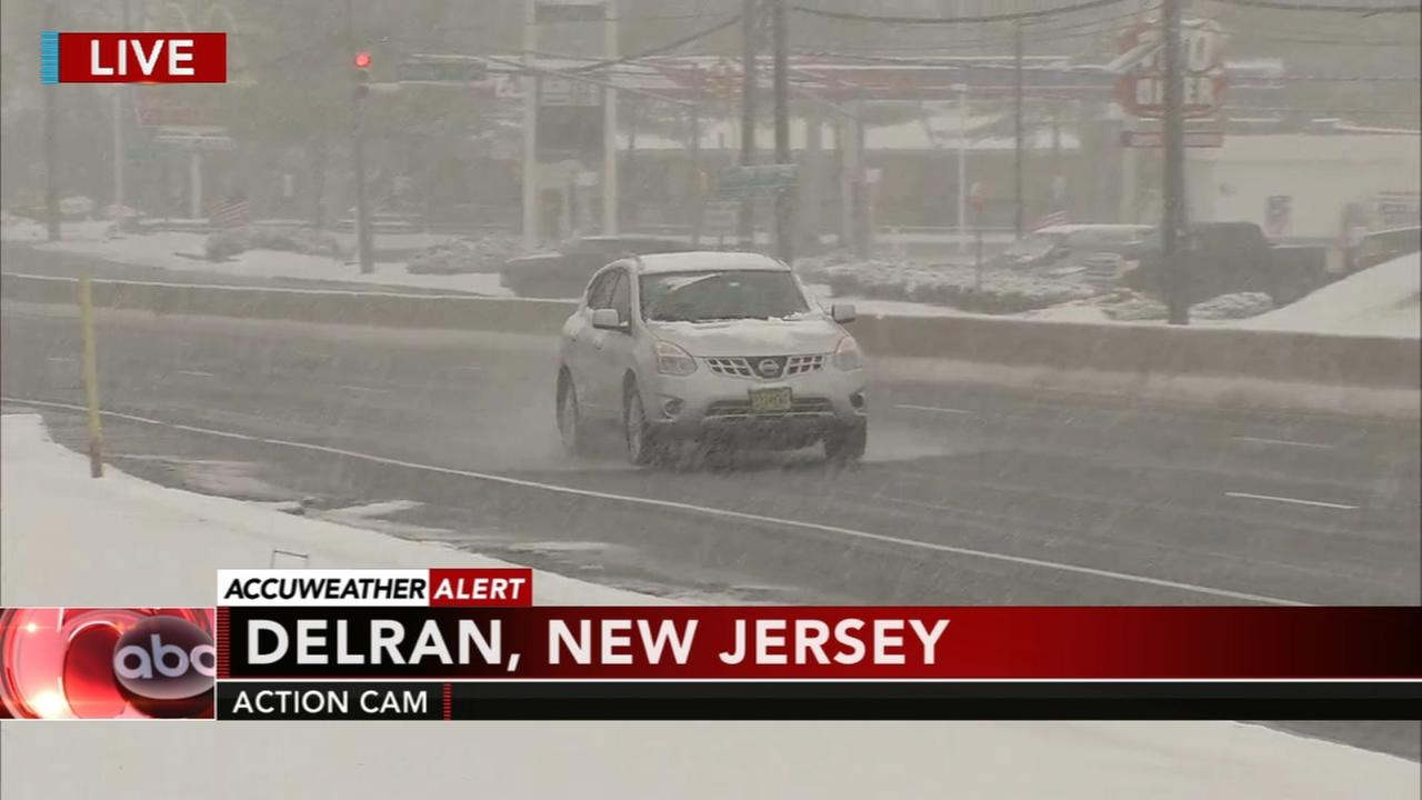 Rain and sleet switches to snow in South Jersey