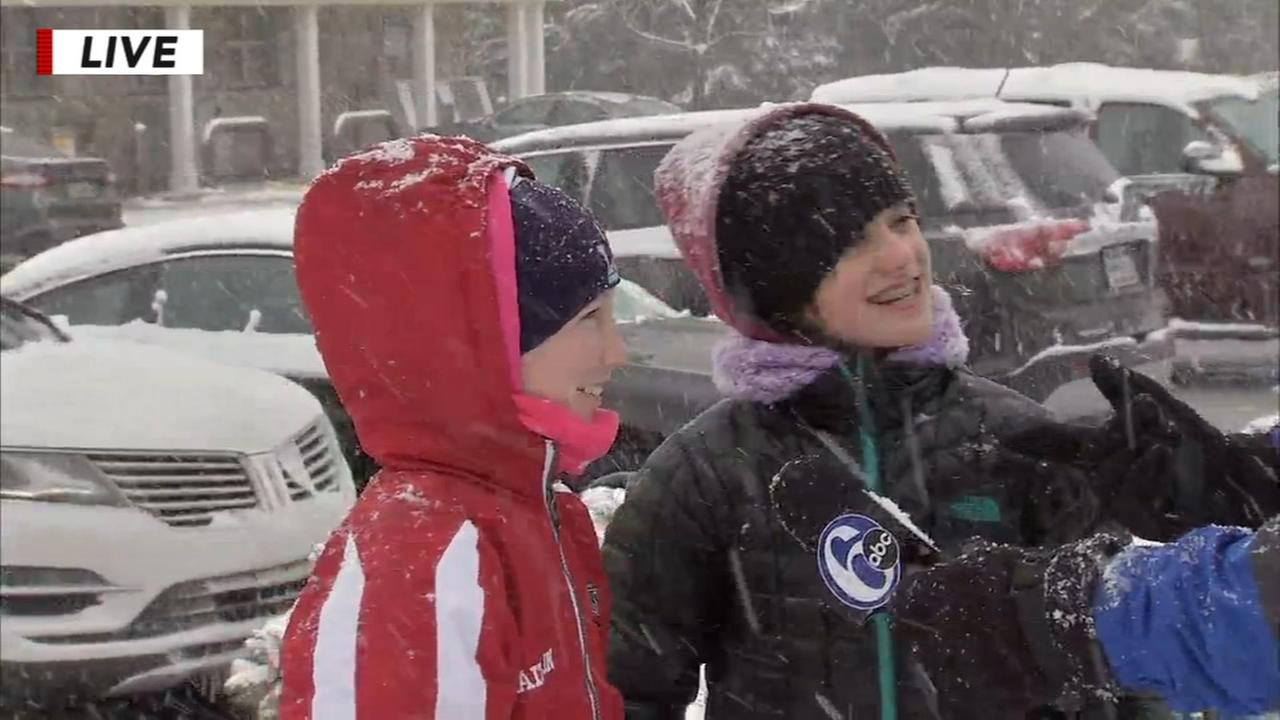 Chad Pradellis daughter pays a visit during snow coverage
