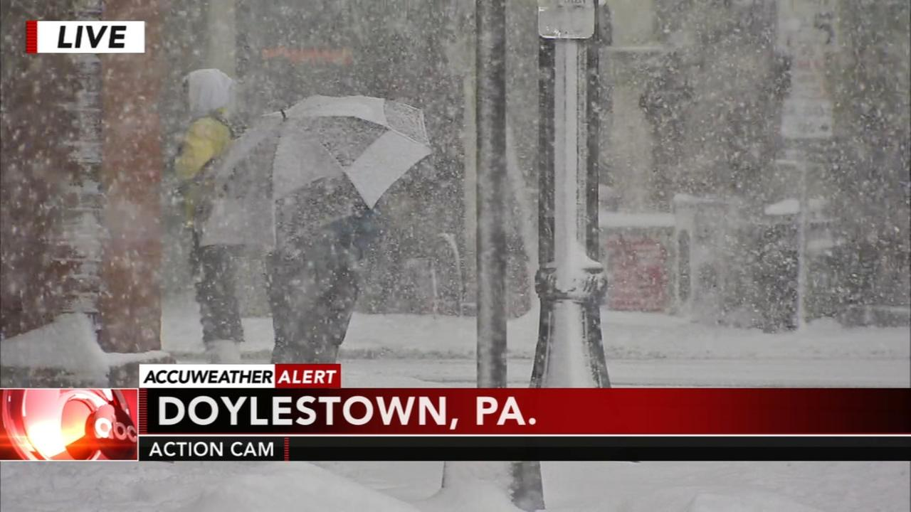Snow intensifies in Doylestown