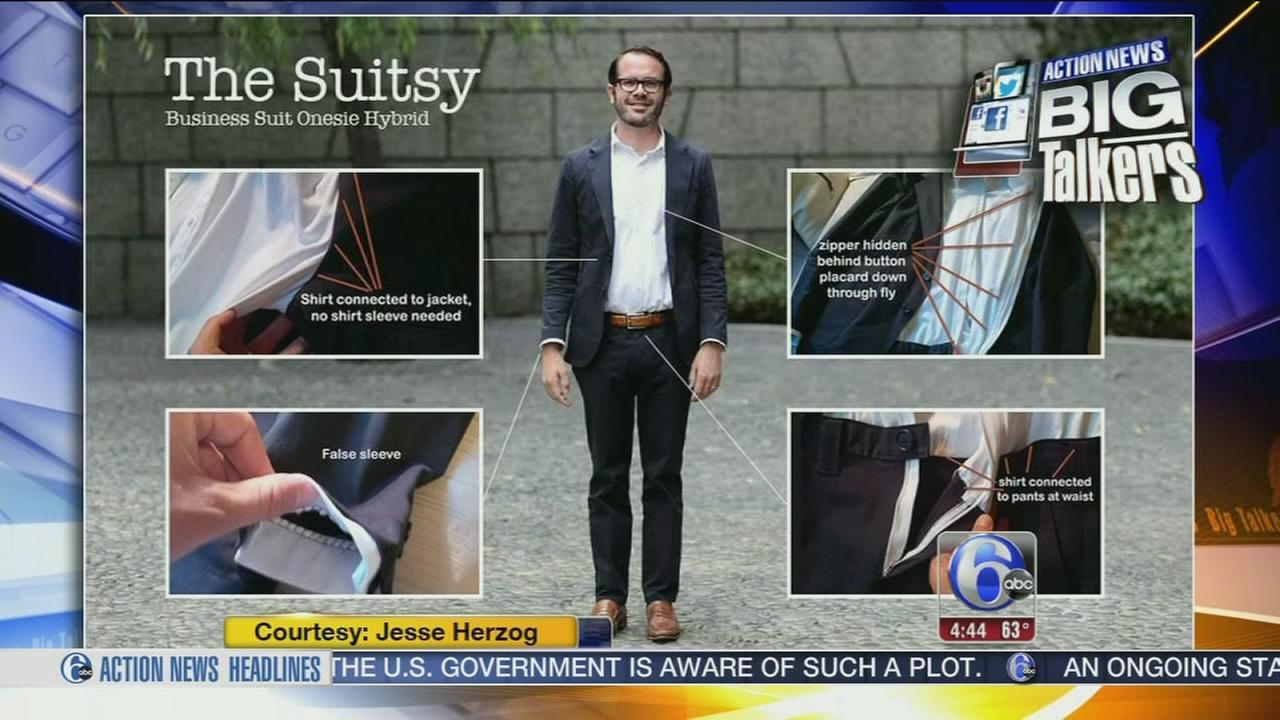VIDEO: Mans version of the onesie - a Suitsy!