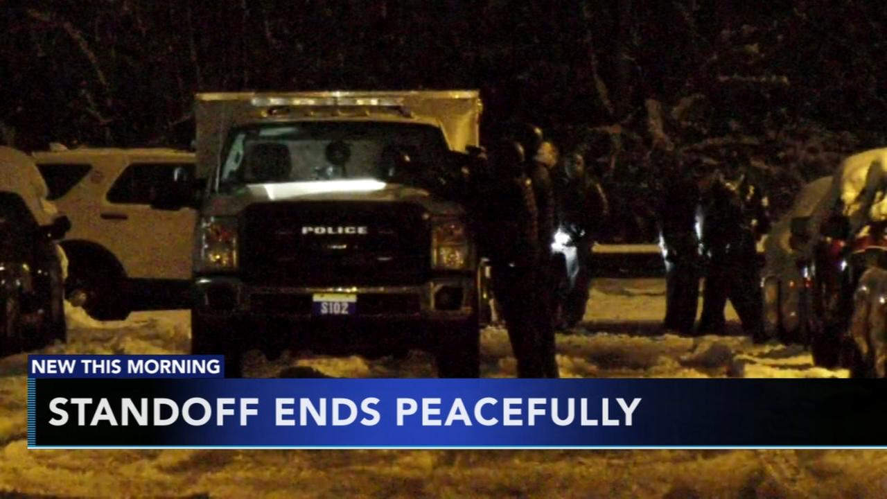 West Philly standoff ends peacefully