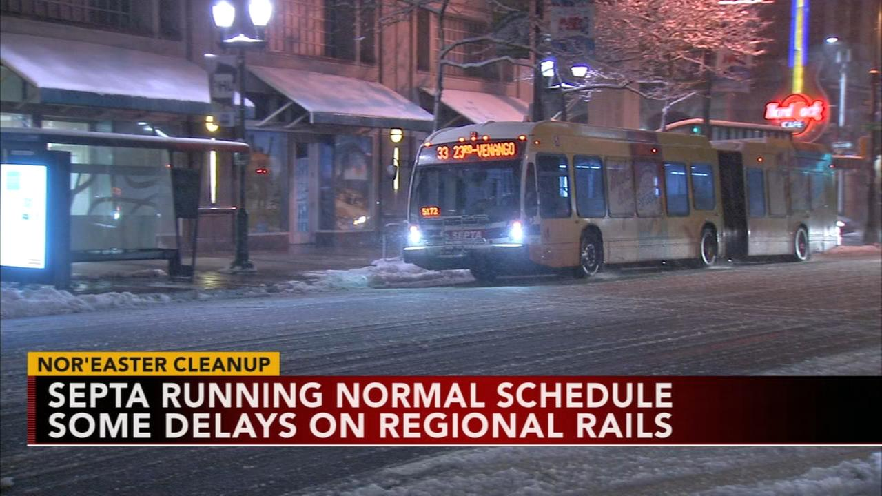 SEPTA service returning after storm