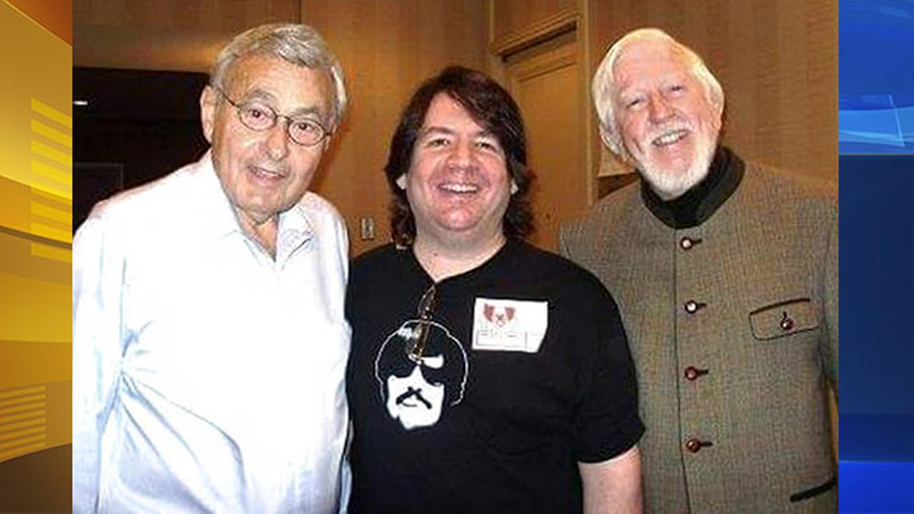 In this 2009 photo Frank Avruch, left, who played Bozo the Clown, poses with Stuart Hersh, center and Carroll Spinney, who played Big Bird and Oscar the Grouch on Sesame Street.