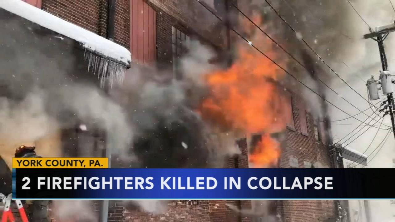 Two firefighters killed in York collapse