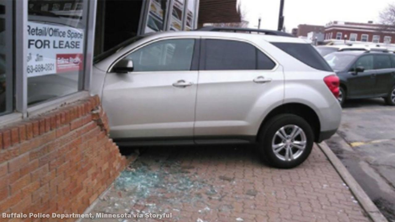 Student Driver Crashes Into Building
