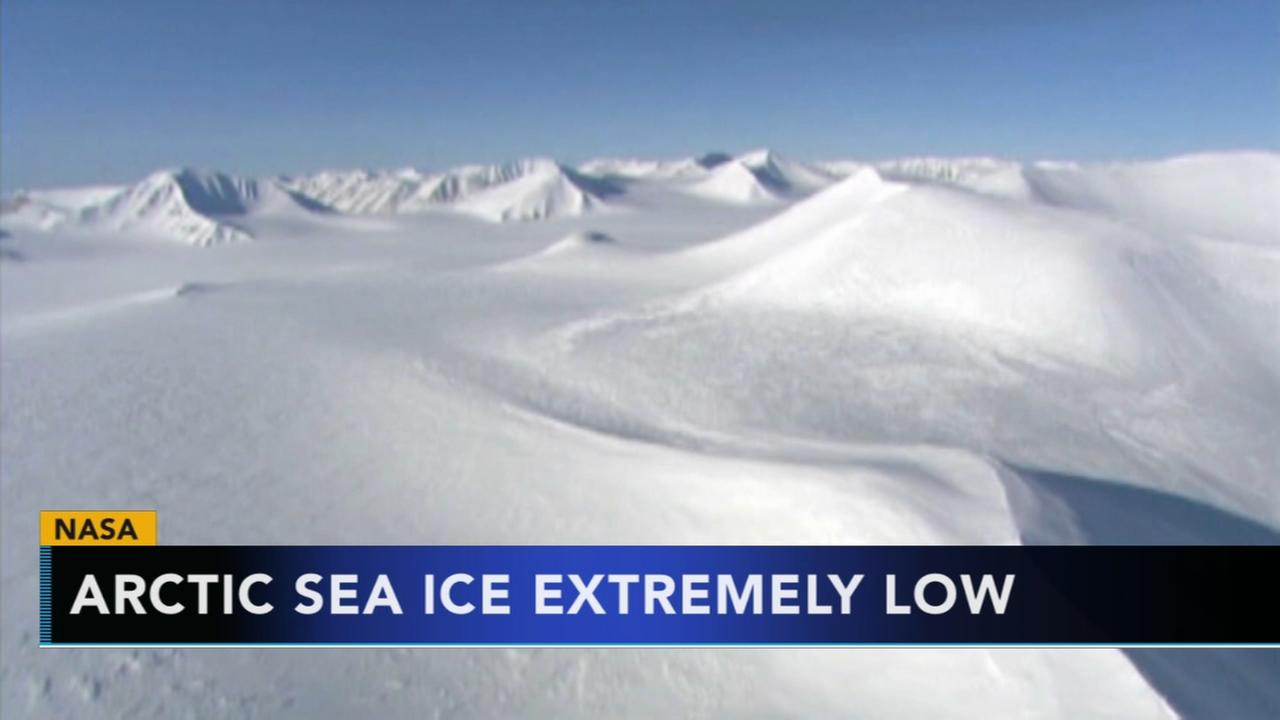 Size of Arctic sea ice second-lowest level on record
