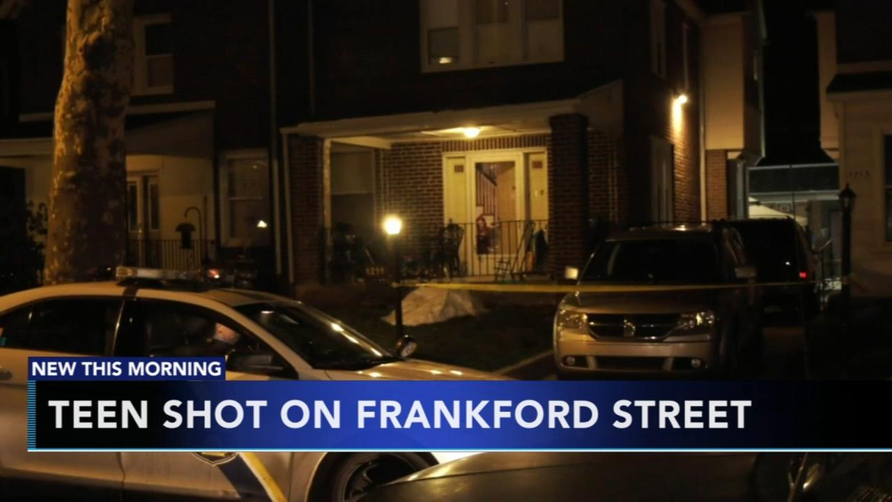 Teen shot in Frankford