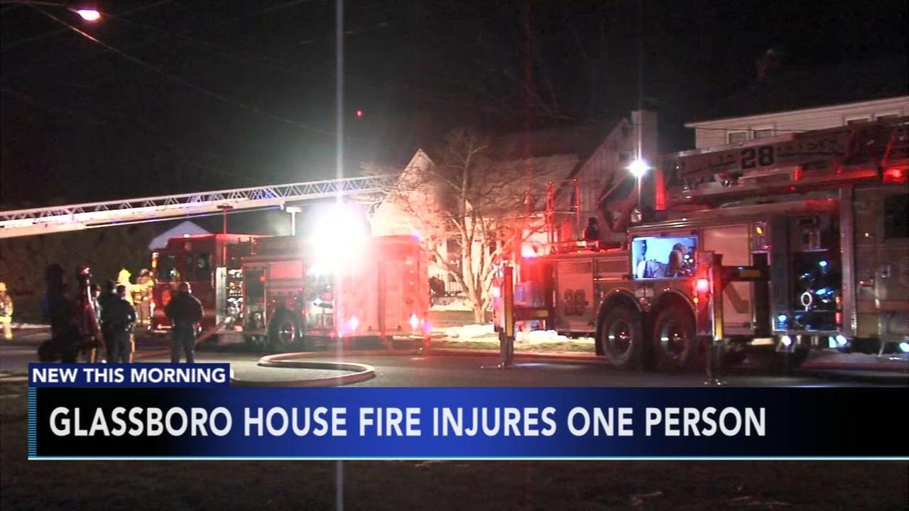 1 injured in Glassboro house fire