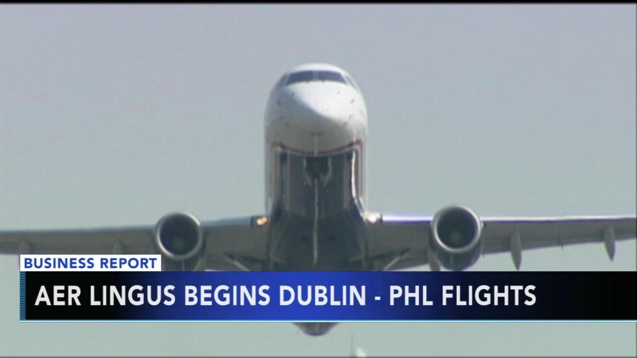 Aer Lingus begins flights in Philadelphia