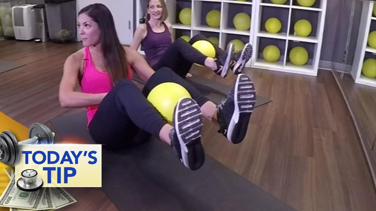 Working the lower abs! Todays Tip
