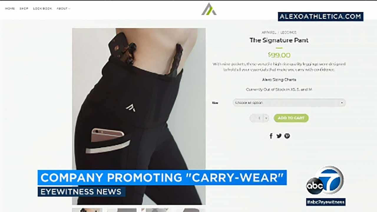 Alexo Athletica is making yoga pants with gun pockets