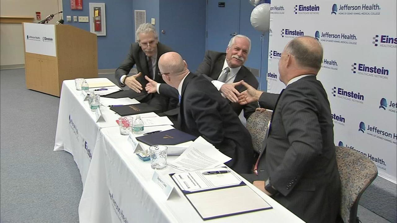 Einstein and Jefferson sign letter of intent to merge