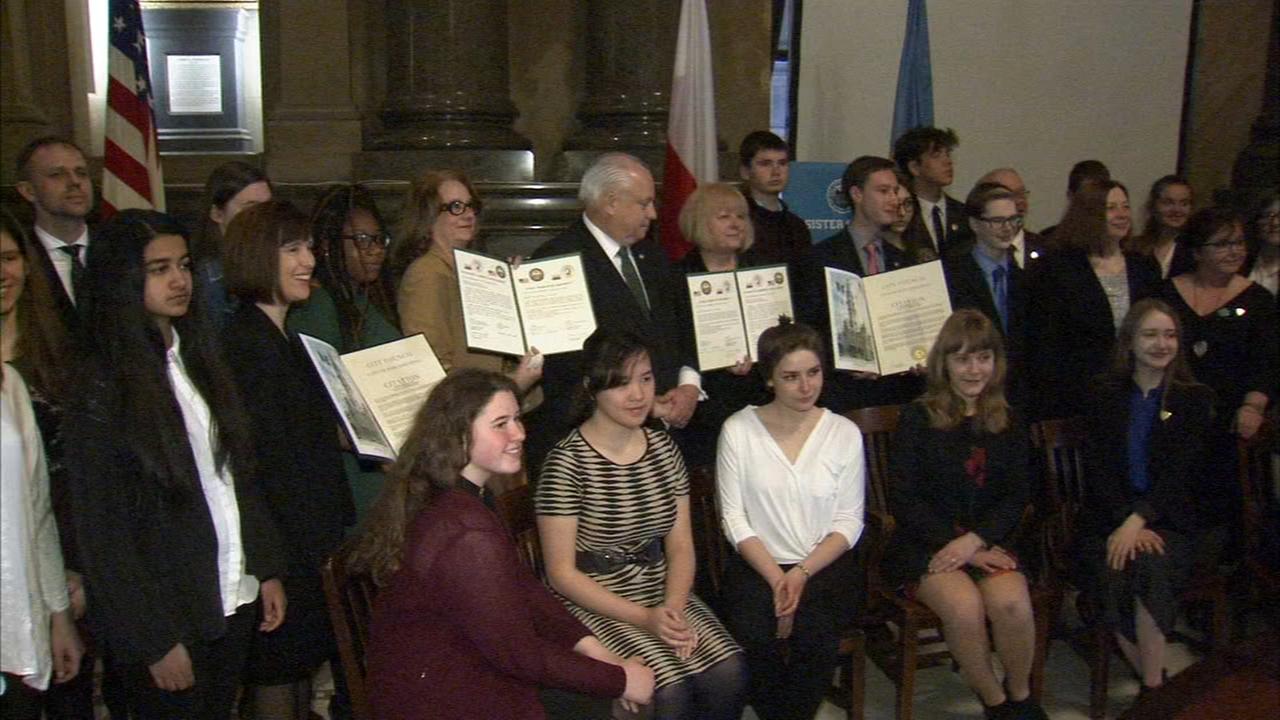 City Council recognizes students in Polish exchange program