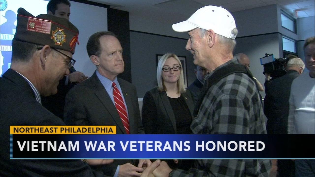 Senator Toomey honors Vietnam War veterans for their service
