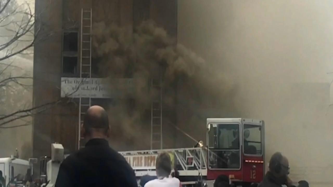 Three alarm fire decimates North Philly church