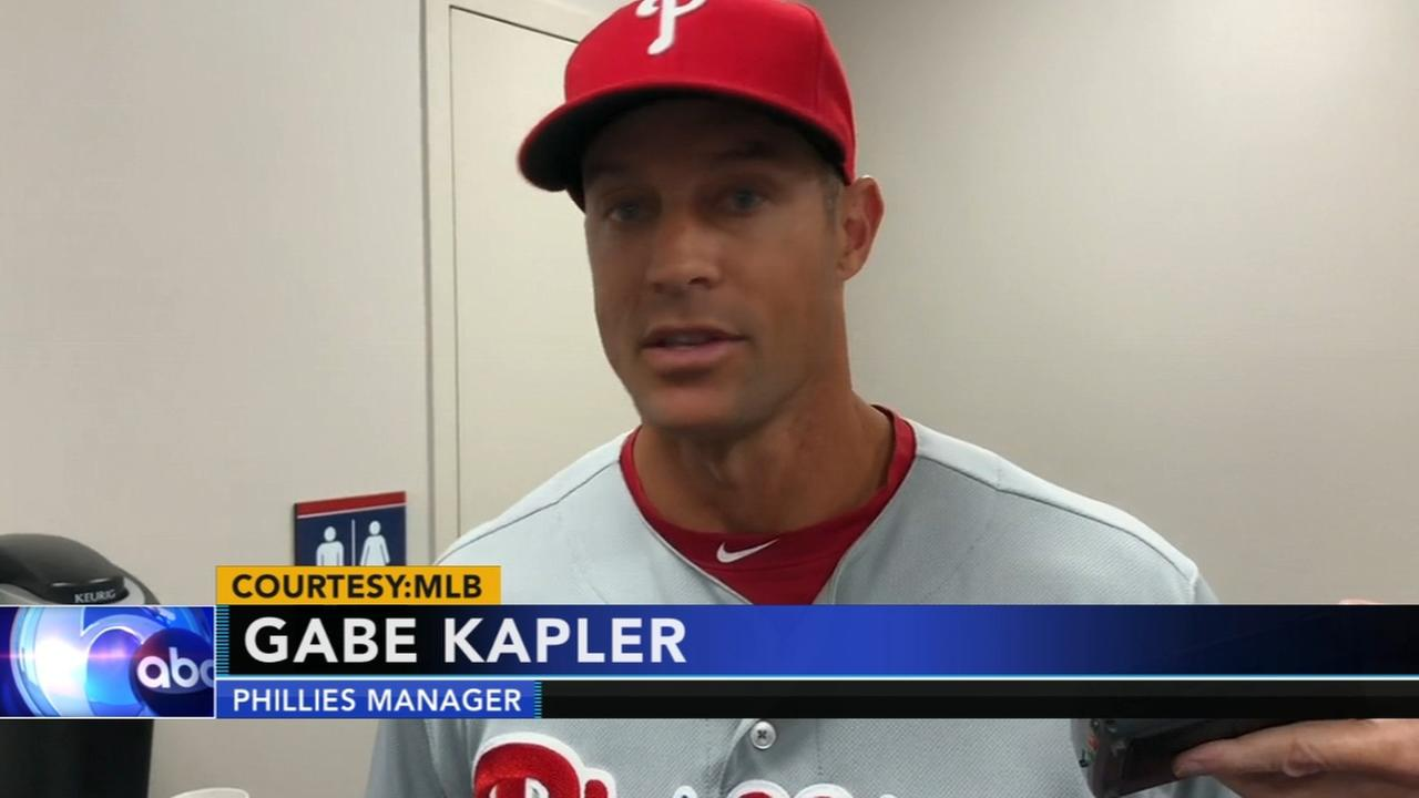 Phillies manager Gabe Kapler defends his decisions during opening day loss