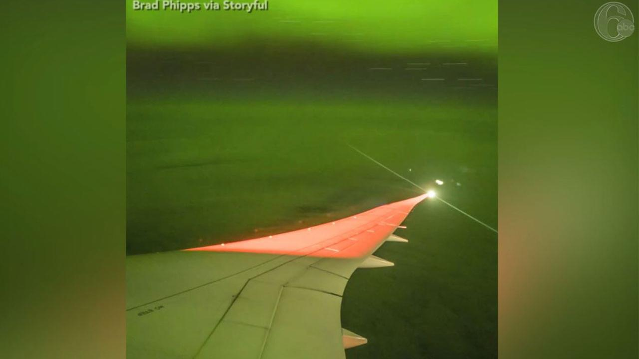 A passenger on a specially-chartered flight captured a stunning time-lapse of the Aurora Australis, also known as the southern lights.
