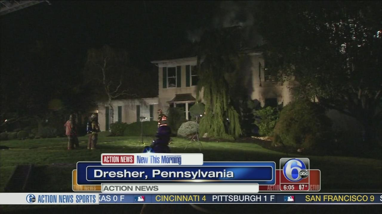 VIDEO: Fire destroys home in Montgomery County