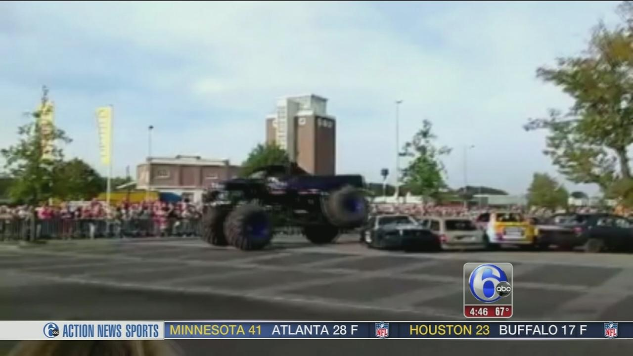 VIDEO: Driver loses control of monster truck