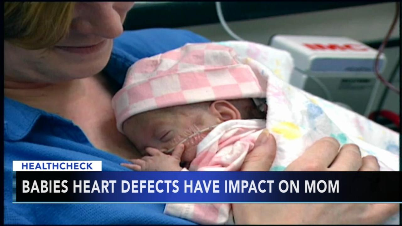 Study: Babies with heart defects have impacts on mothers