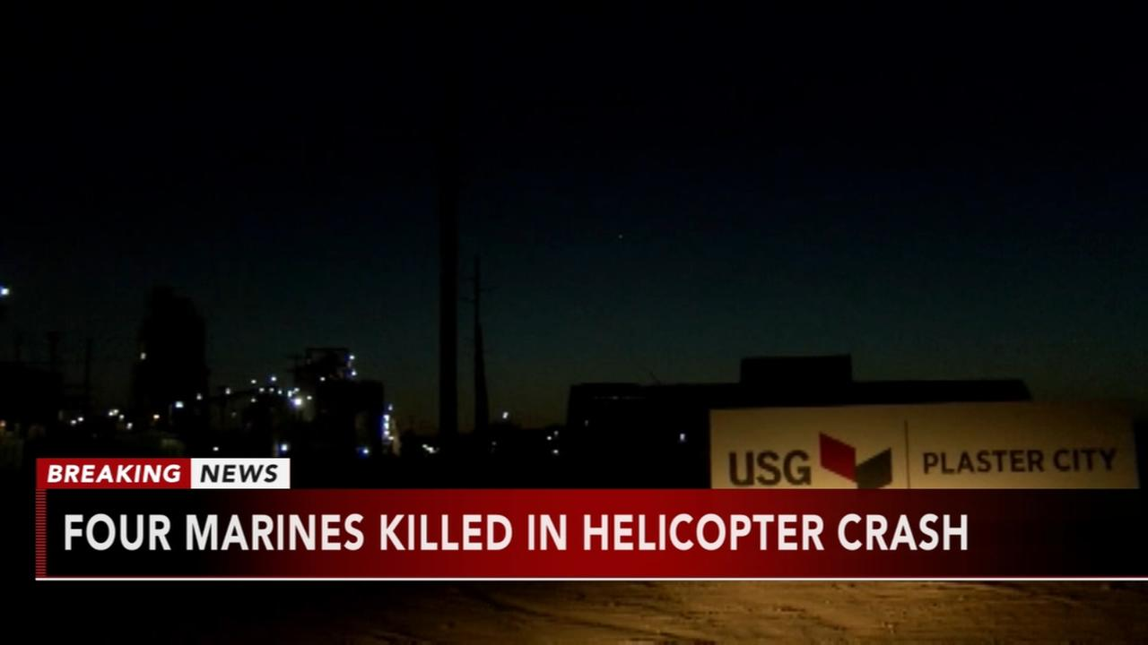 4 Marines killed in helicopter crash
