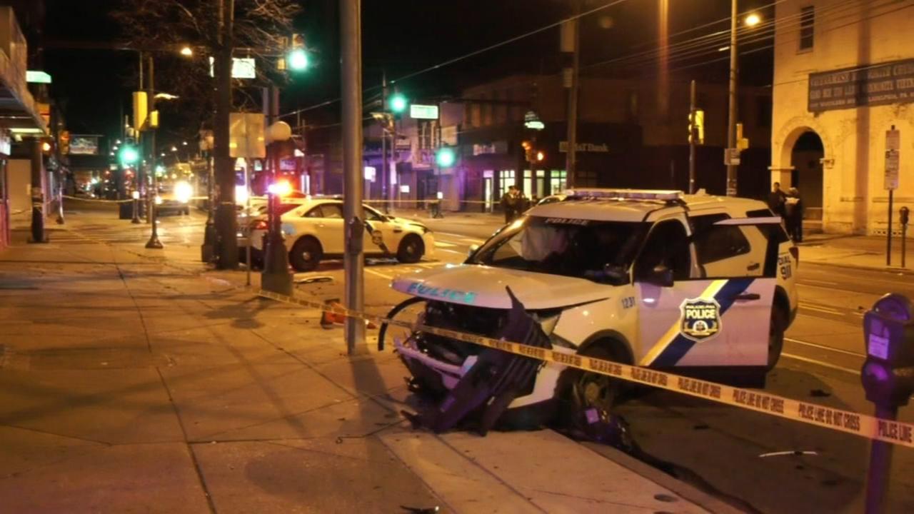 Officers injured in crash responding to shooting