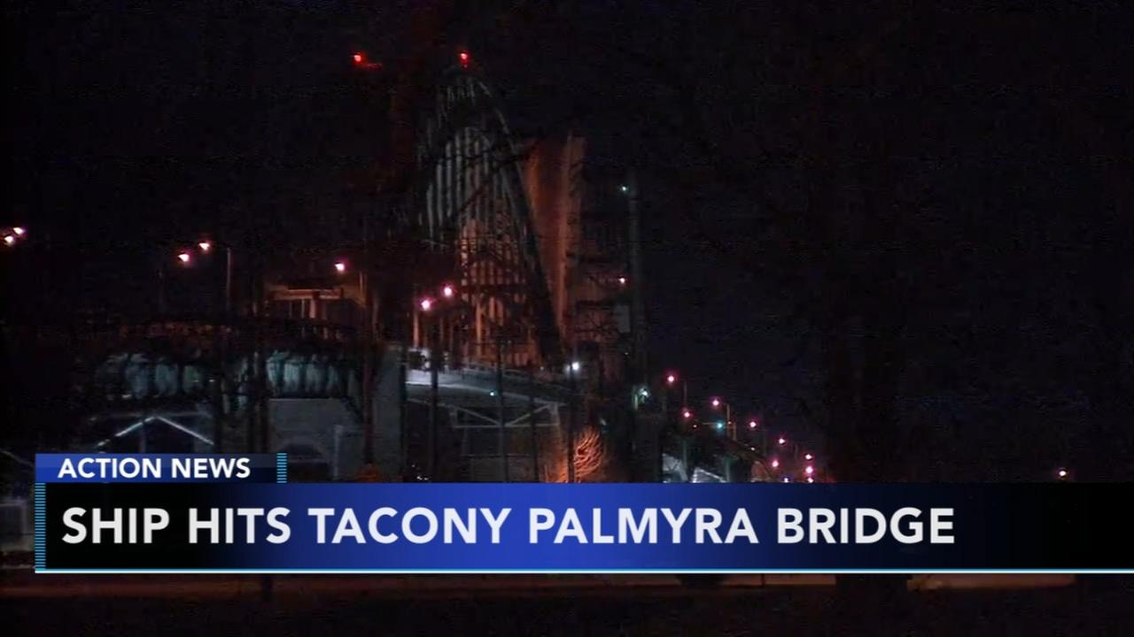 Tacony-Palmyra Bridge reopens after hit by ship