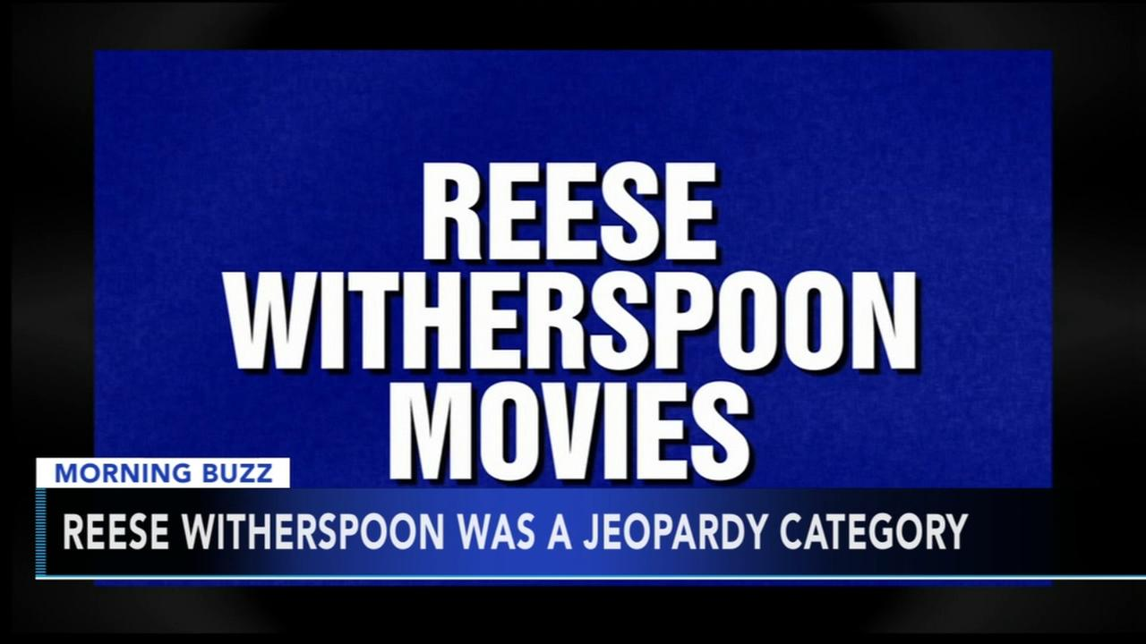 Reese Witherspoon reacts to her own Jeopardy category
