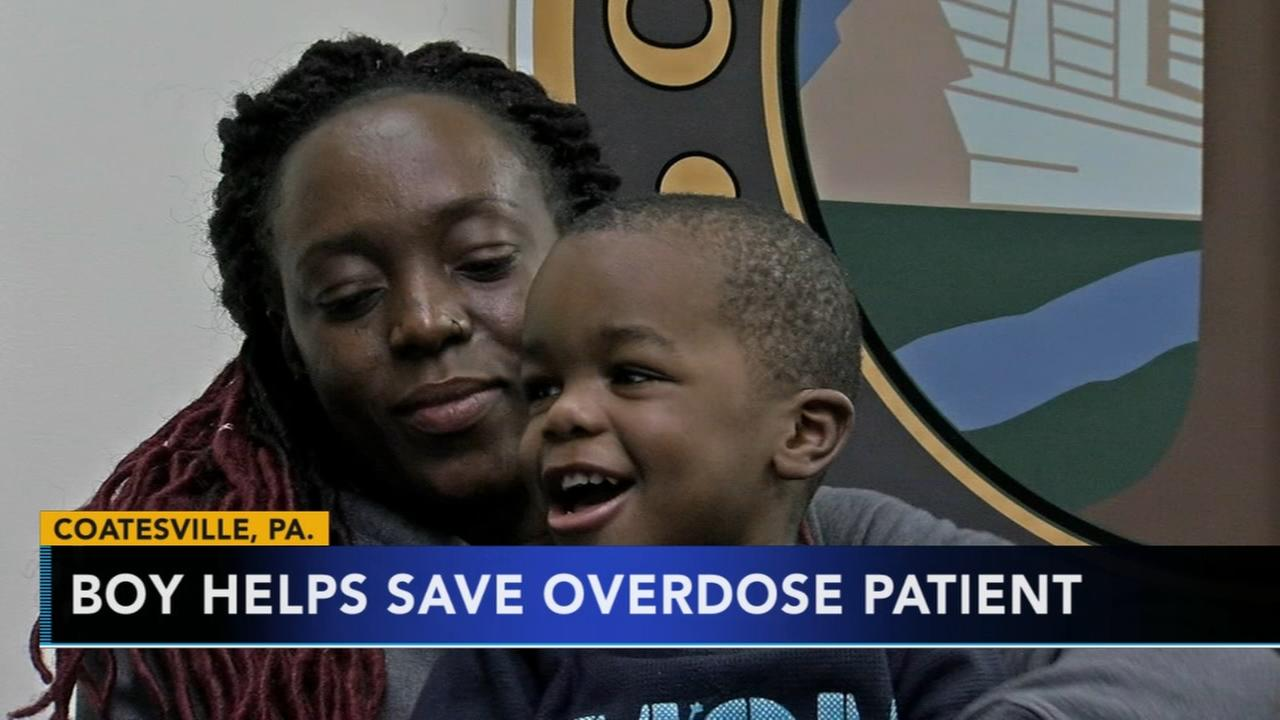 Boy helps save overdose patient