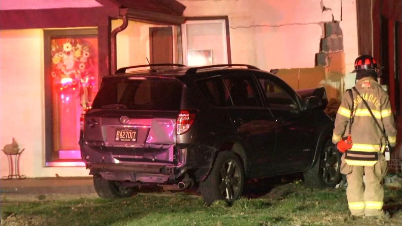 SUV crashes into Minquadale home