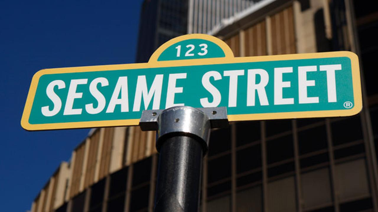 FILE: A sign for Sesame Street is shown in celebration of the 30th anniversary of the live touring stage shows based on the PBS television series.