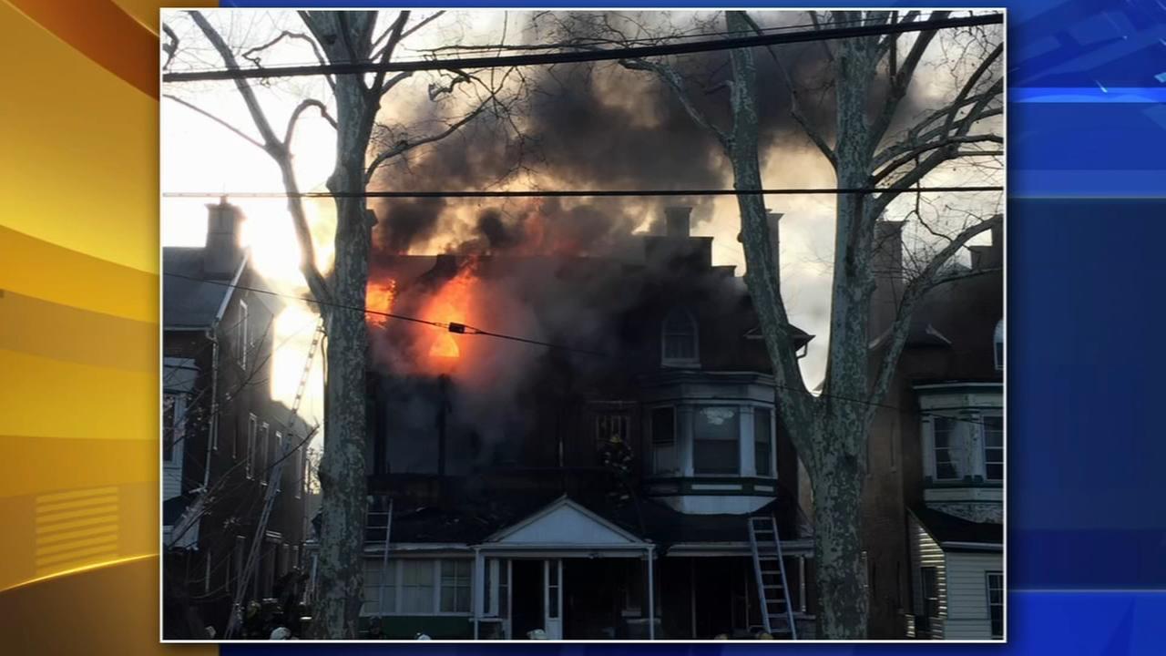 Elderly woman jumps from West Philadelphia house fire