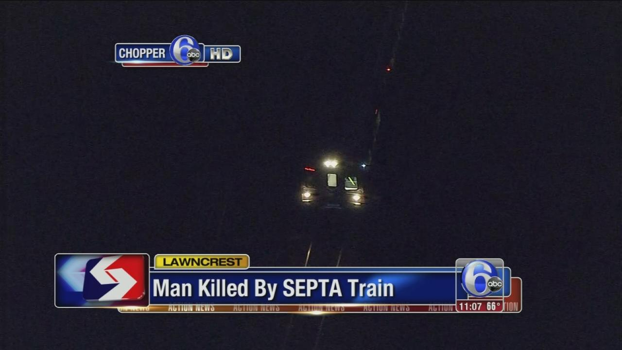 VIDEO: Man killed by SEPTA train