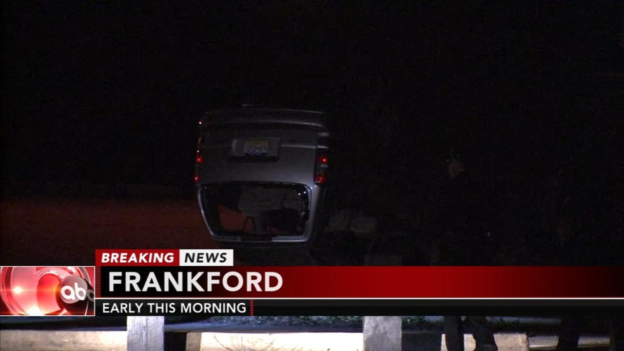 Fleeing driver flips car onto basketball court