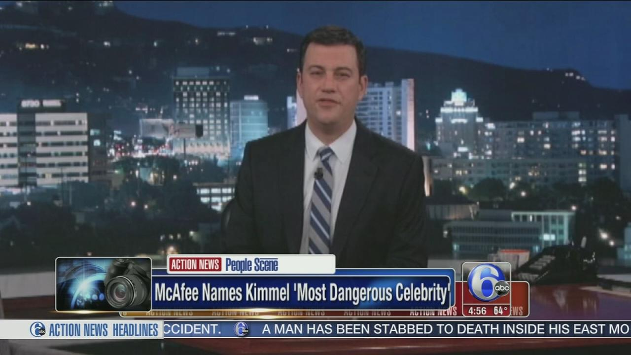 VIDEO: Kimmel named most dangerous celebrity