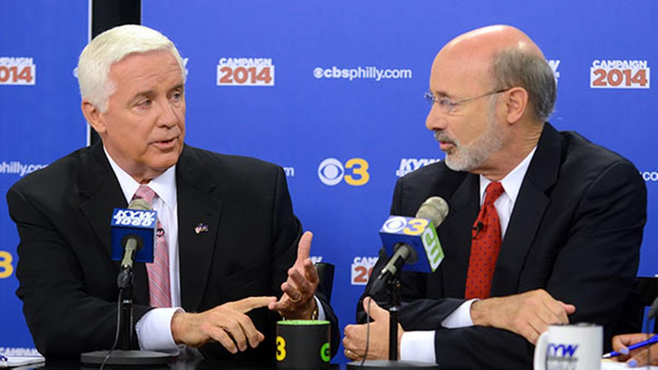 Gov. Tom Corbett and Tom Wolf debate