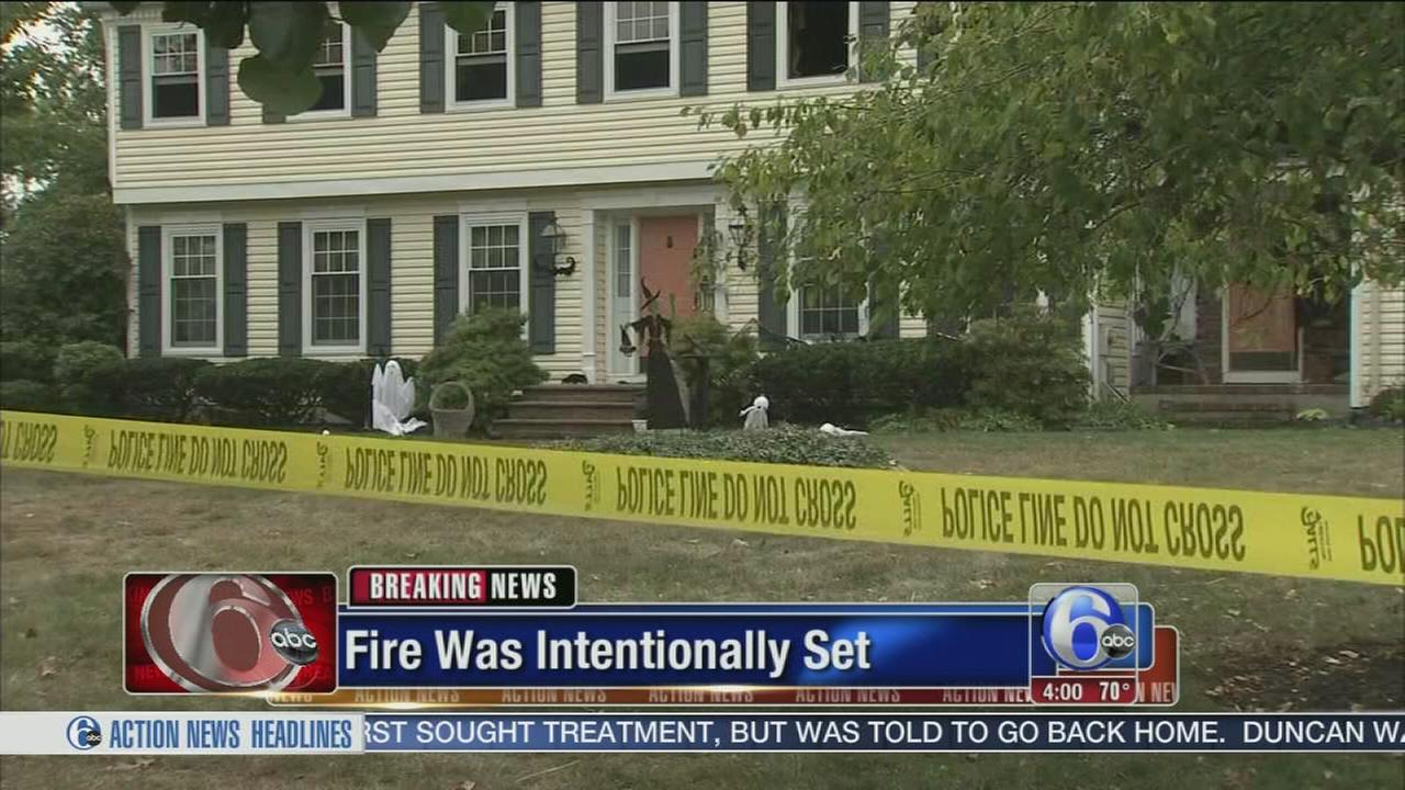 VIDEO: Fire intentionally set