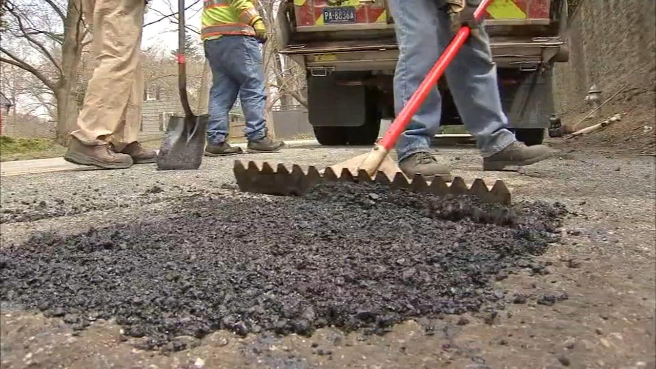 Crews working to repair potholes across the region