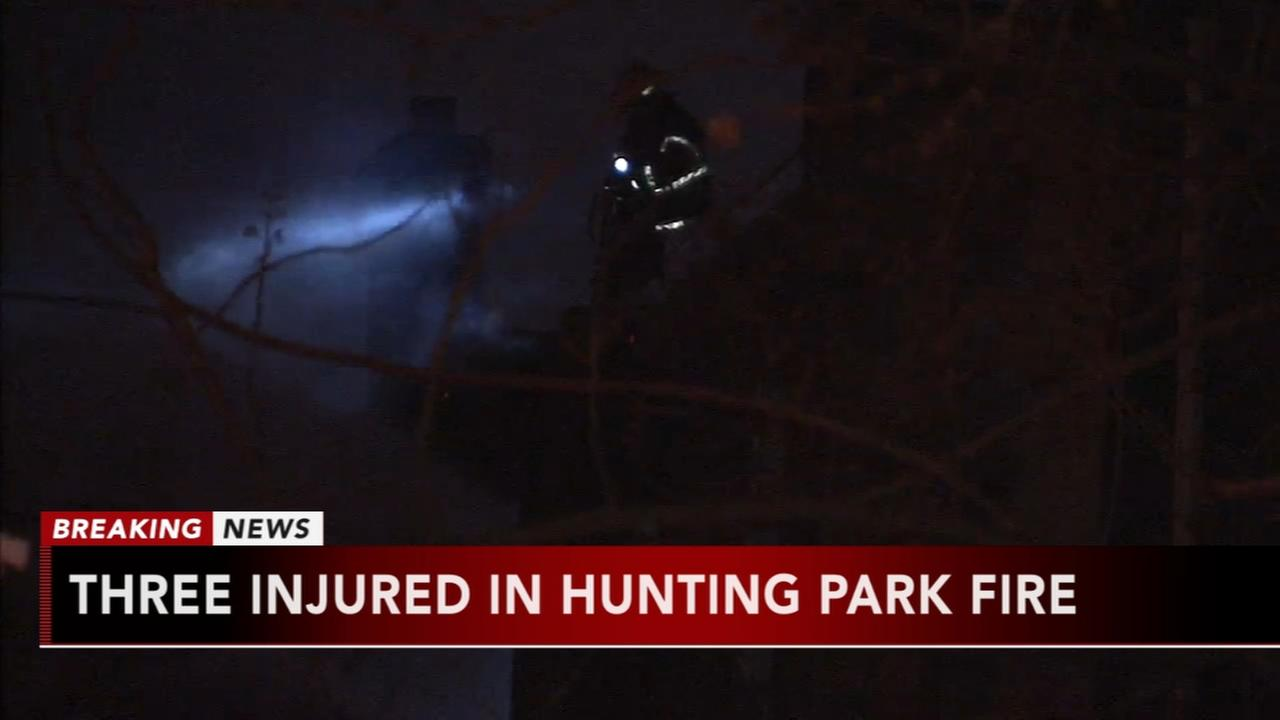 3 injured in Hunting Park fire