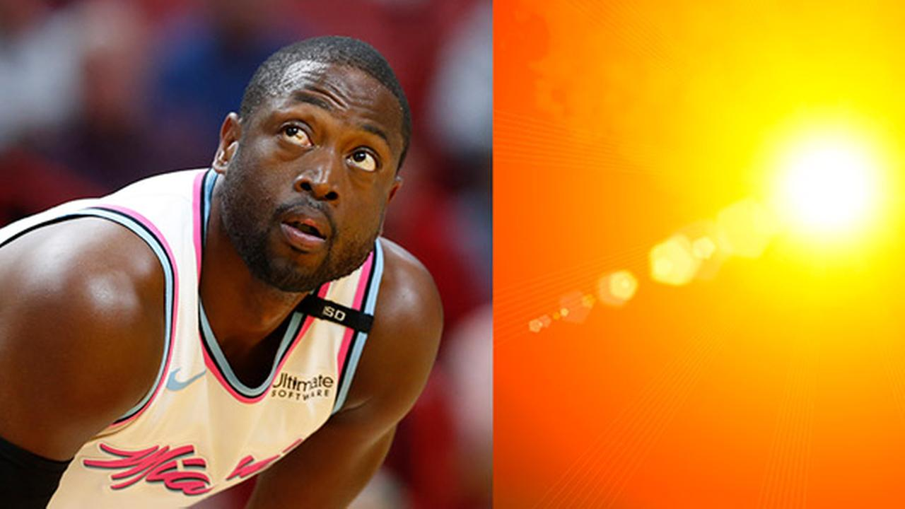 Miami Heat guard Dwyane Wade / Sunny skies