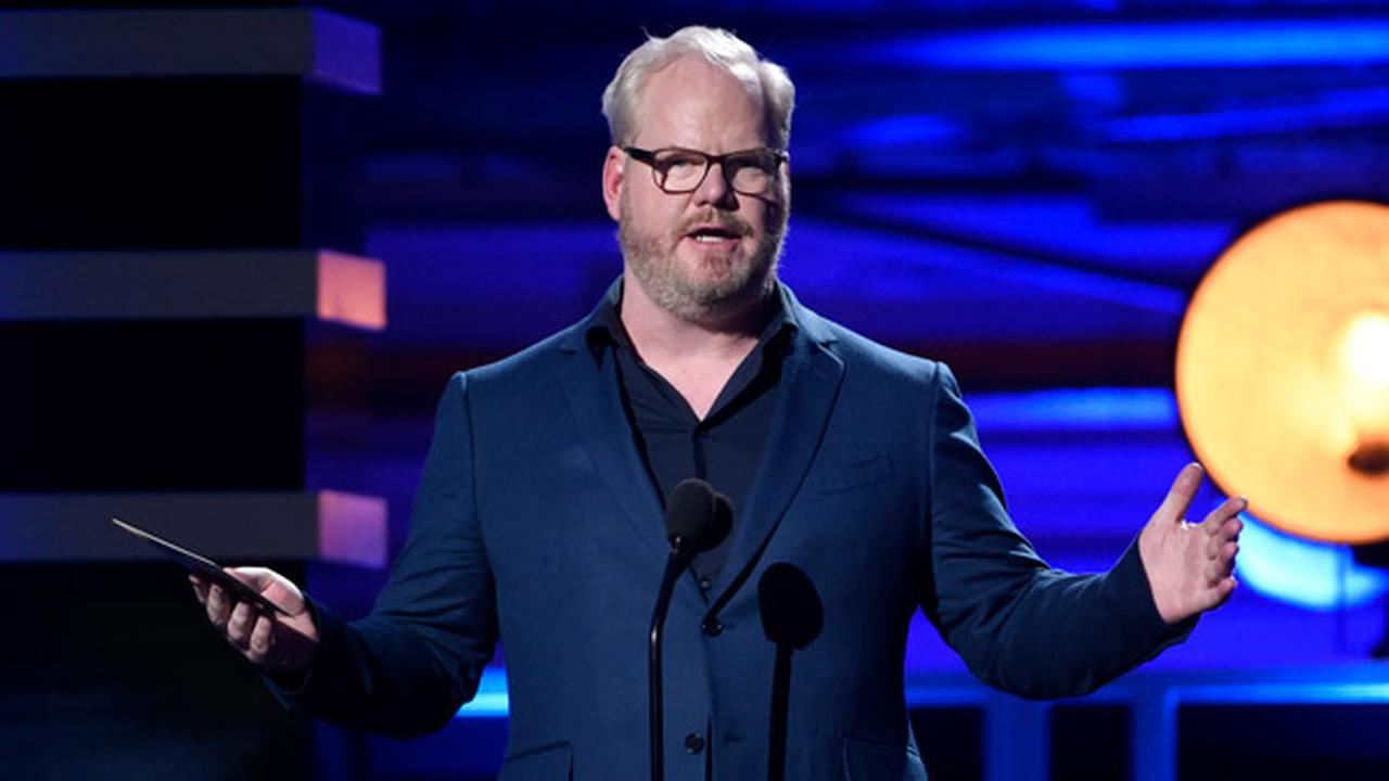 Jim Gaffigan presents the award for best comedy series at the 23rd annual Critics Choice Awards at the Barker Hangar on Thursday, Jan. 11, 2018, in Santa Monica, Calif.
