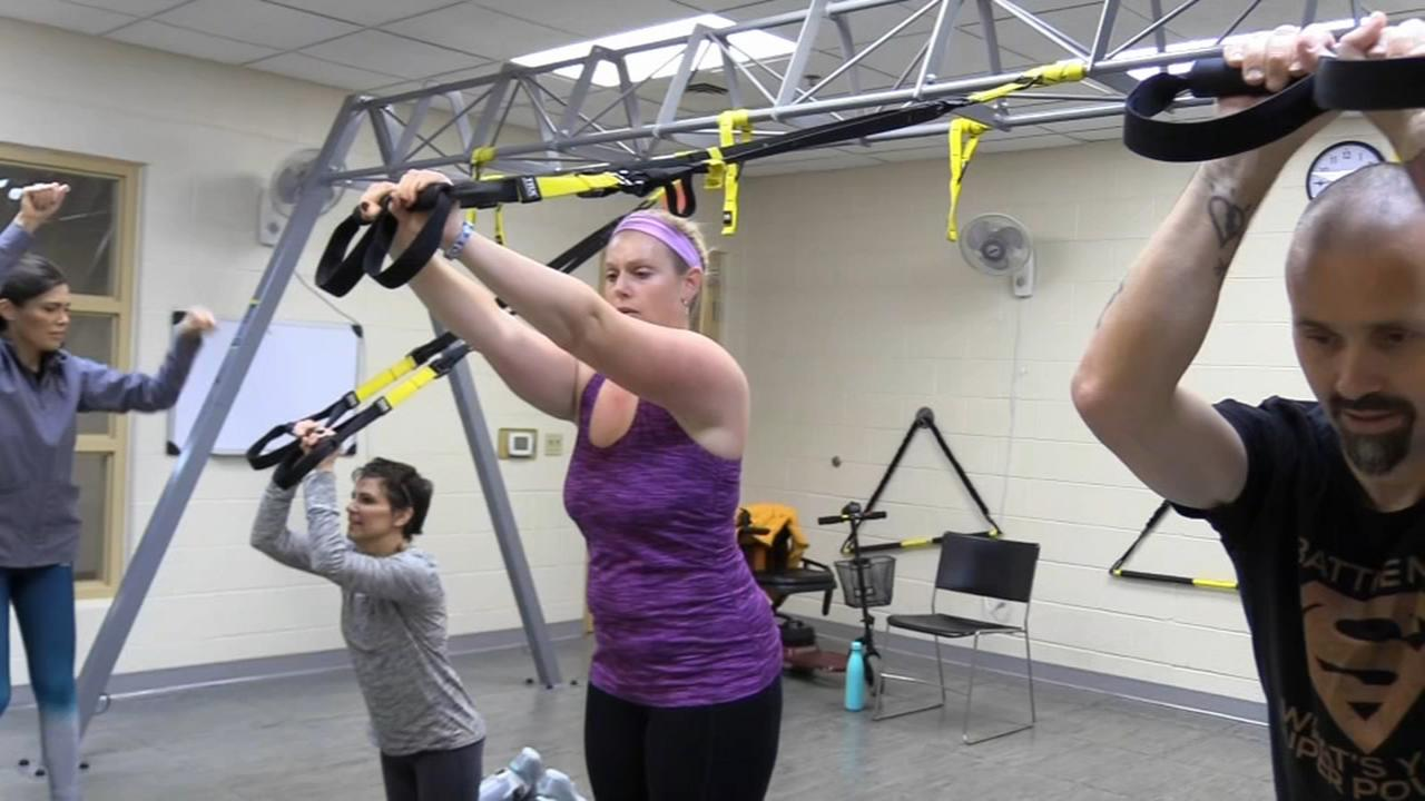 TRX workout helps MS patients ease their symptoms