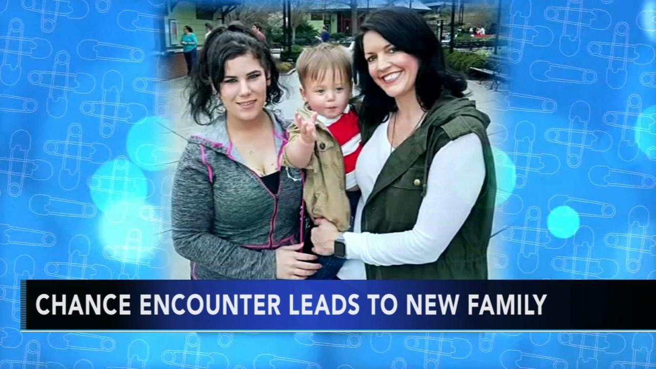 Chance encounter leads to new family